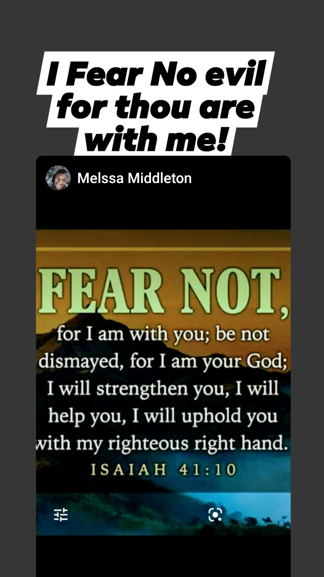 Fear not of worldly circumstances, for TMH. God is with Us.!