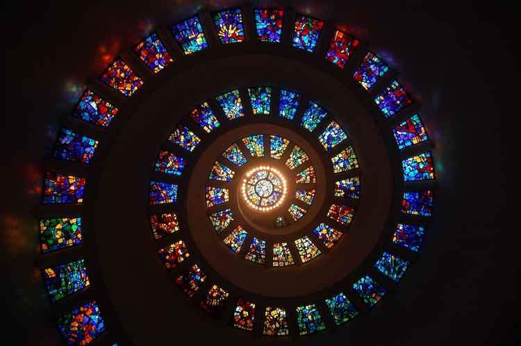 Stain Window glass imagery.